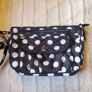 Lug Mambo Crossbody Bag Black White Polka Dots